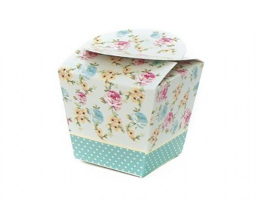 Shabby Chic Cup Cake Box single 4's